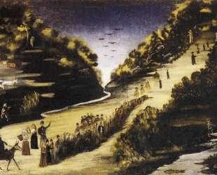 Гуляние у реки Цхенисцкали — Нико Пиросмани