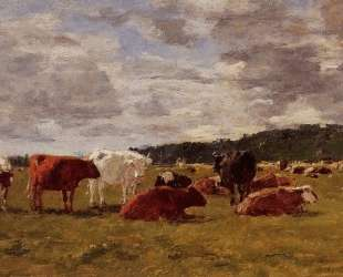 Pasture at Deauville — Эжен Буден