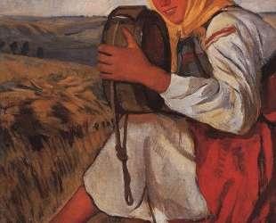 Крестьянка с квасником — Зинаида Серебрякова