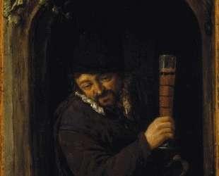 Peasant at a Window — Адриан ван Остаде