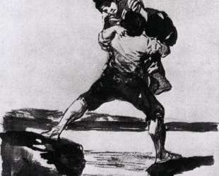 Peasant Carrying a Woman — Франсиско де Гойя