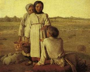 Peasant Children in the Field — Алексей Венецианов