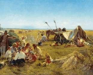 Крестьянский обед во время жатвы — Константин Маковский