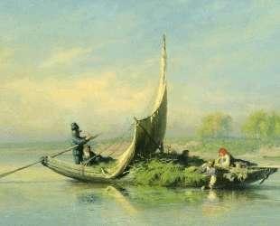 Крестьянская семья в лодке — Фёдор Васильев