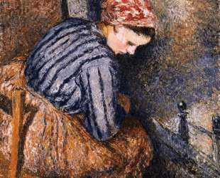 Peasant Woman Warming Herself — Камиль Писсарро