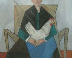 Peasant Woman with chicken — Маревна