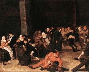 Peasants At A Wedding Feast — Франс Халс