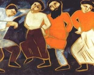 Peasants dancing — Наталья Гончарова