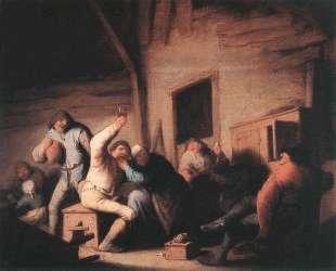 Peasants in a Tavern — Адриан ван Остаде