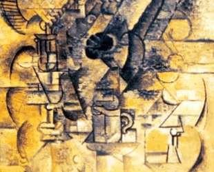 Pedestal, glasses, cups, mandolin — Пабло Пикассо
