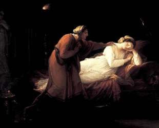 Penelope is woken by Euryclea — Ангелика Кауфман