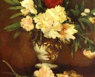 Peonies in a vase — Эдуард Мане