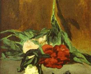 Peony stem and shears — Эдуард Мане