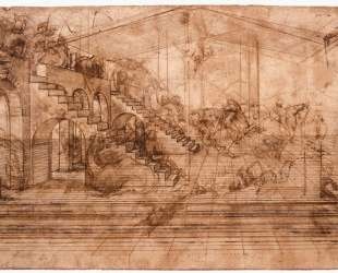 Perspectival study of the Adoration of the Magi — Леонардо да Винчи