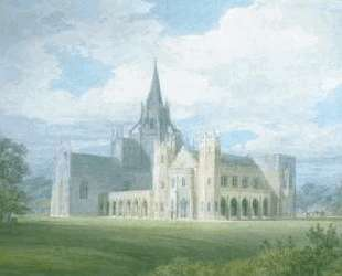 Perspective View of Fonthill Abbey from the South West — Уильям Тёрнер