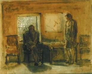 Петр I допрашивает царевича Алексея — Николай Ге