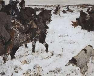 Петр I на псовой охоте — Валентин Серов