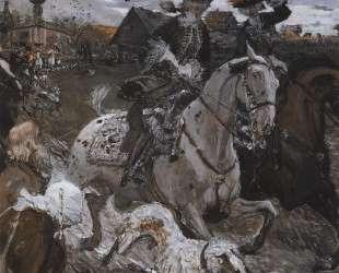 Выезд императора Петра II и цесаревны Елизаветы Петровны на охоту — Валентин Серов