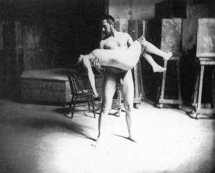 Thomas Eakins carrying a woman — Томас Икинс