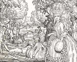 Пикник. Иллюстрация к Книге маркизы — Константин Сомов