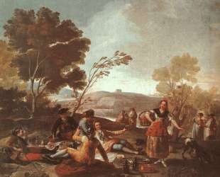 Picnic on the Banks of the Manzanares — Франсиско де Гойя