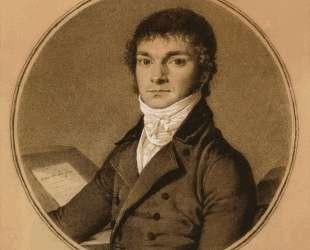 Пьер Гийом Казо, поясной портрет сидя за столом — Жан Огюст Доминик Энгр