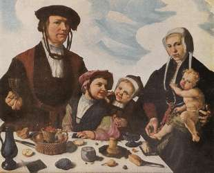 Pieter Jan Foppeszoon and his Family — Мартен ван Хемскерк