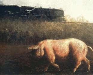 Pig and Train — Джейми Уайет