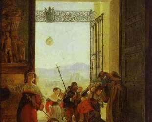 Пилигримы в дверях Латеранской базилики — Карл Брюллов