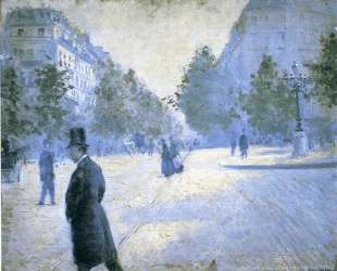 Place Saint Augustin, Misty Weather — Гюстав Кайботт