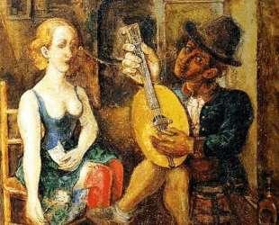 Поэт и муза — Давид Бурлюк