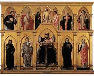 Polyptych of St. Luke — Андреа Мантенья