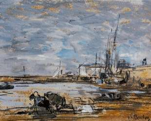 Port at Low Tide — Эжен Буден
