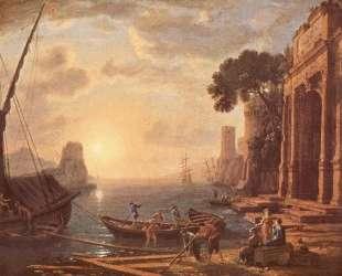 Port at sunset — Клод Лоррен