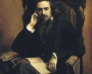 Portarait of philosopher Vladimir Solovyov — Иван Крамской