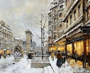 Porte St. Denis, Winter — Антуан Бланшар