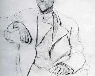 Portrait of A. A. Bakhrushin — Константин Юон