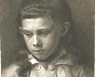 Portrait of a Girl, Head Slightly Turned Left — Густав Климт