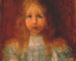 Портрет девочки с цветами — Пит Мондриан