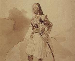 Портрет греческого инсургента Теодора Колокотрони — Карл Брюллов