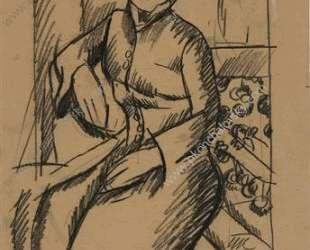 Женский портрет. Рисунок для портрета Анны Эмильевны Генц. — Пётр Кончаловский