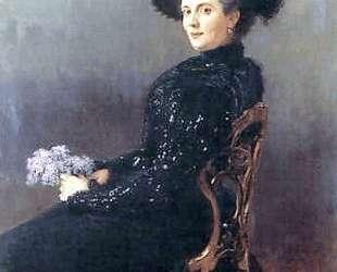 Портрет дамы в кресле — Николай Богданов-Бельский