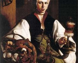 Portrait of a Lady Spinning — Мартен ван Хемскерк