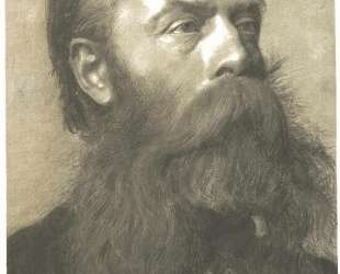Portrait of a man with beard in three quarter profil — Густав Климт