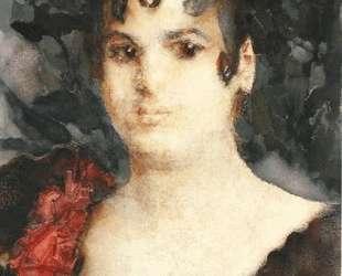 Portrait of a T. Lyubatovich in role of Carmen — Михаил Врубель