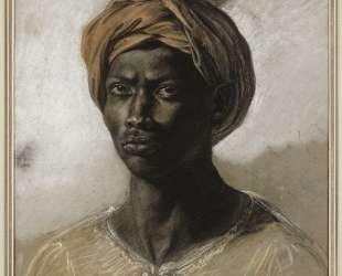 Портрет турка в тюрбане — Эжен Делакруа