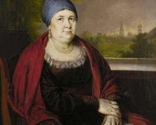 Портрет купчихи в синем повойнике — Василий Тропинин