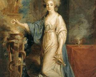 Portrait of a Woman as a Vestal Virgin — Ангелика Кауфман