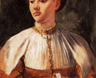 Портрет молодой женщины (по Бакчакка) — Эдгар Дега