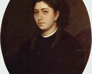 Portrait of a Young Woman Dressed in Black Velvet — Иван Крамской